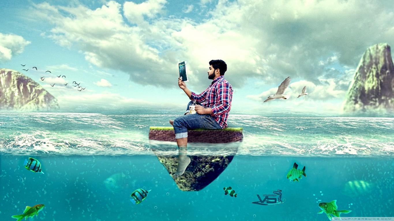 hajótörött férfi