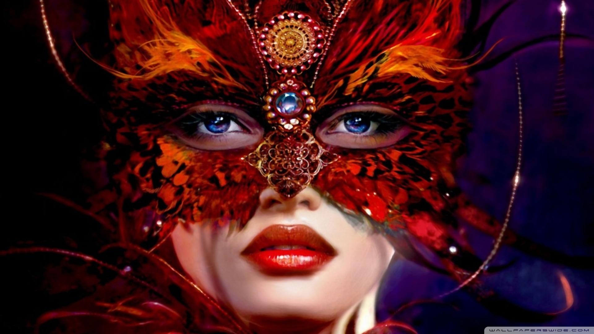 maszkos nő